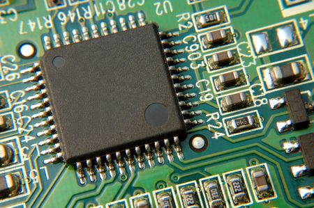 close up of electronic board