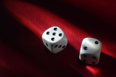 dice on red background