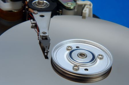 internals: hard disk internals closeup