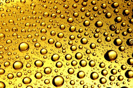 yellow waterdrops from above
