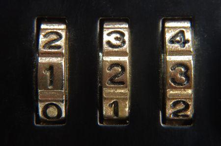 briefcase lock closeup