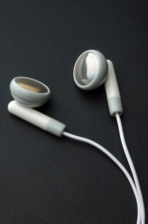 close up of headphones on dark background photo