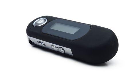 mp3 player on white background photo