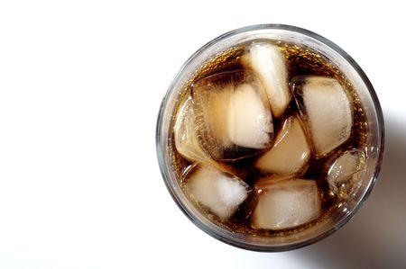 vaso de refresco con hielo de arriba  Foto de archivo - 1140433