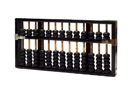 classic abacus on white background