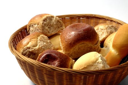 tray full of different breads