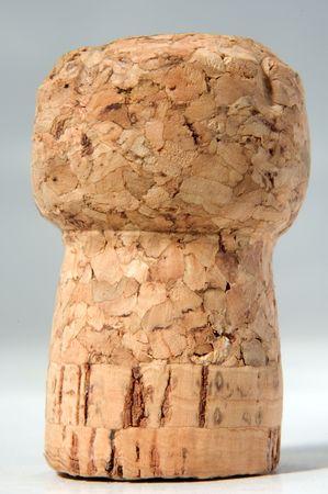 cork closeup over light background