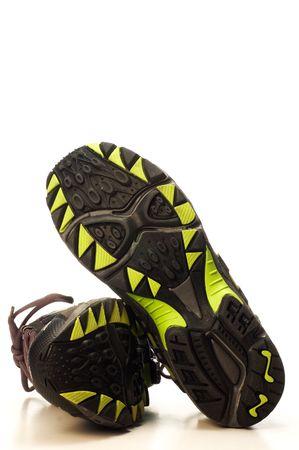 rigorous: Suola di scarpe da corsa su sfondo bianco