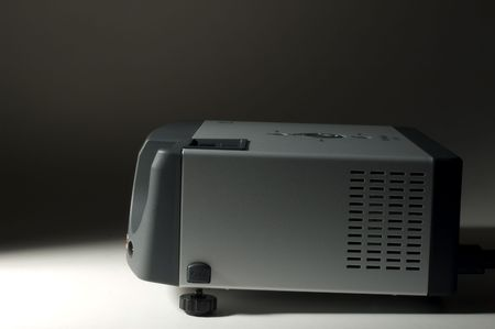 LCD projector side view on darkness Stock Photo - 2494671