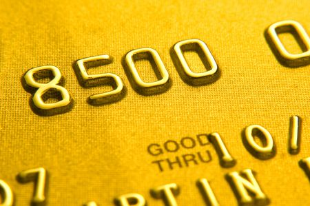 Close up of credit card showing partial numbers Standard-Bild