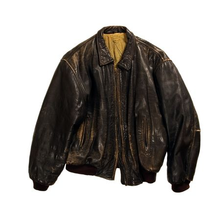 Brown jacket isolated on white background