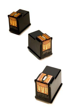 bubblejet: ink cartridges over white background