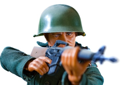 toy soldier on white background  Stock Photo