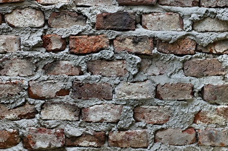 Old brick wall closeup