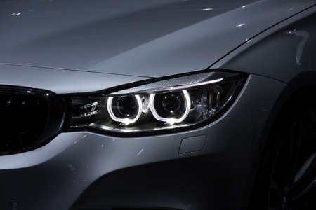 xenon: Illustration and close-up on a car headlight