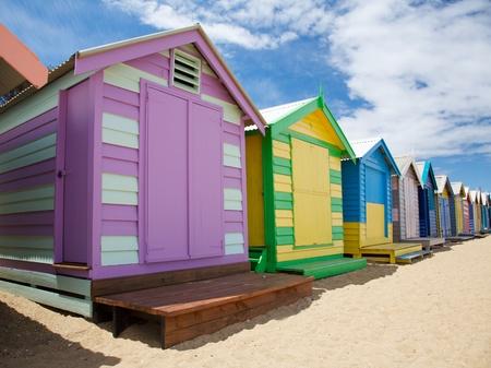Colorful beach huts at Brighton Beach near Melbourne, Australia photo