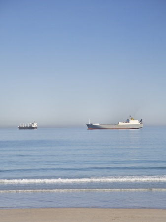 Container Shipping at the beach photo