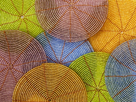 Beaded coasters, background Stock Photo - 11056963