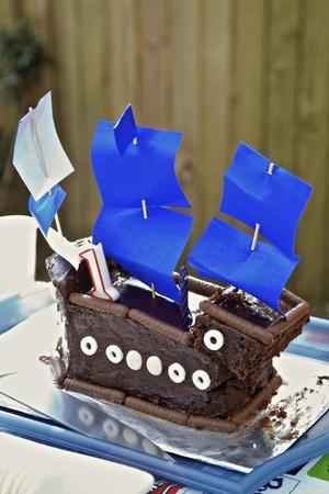 back lighting: Childerens 1st Birthday Cake Sailing Boat