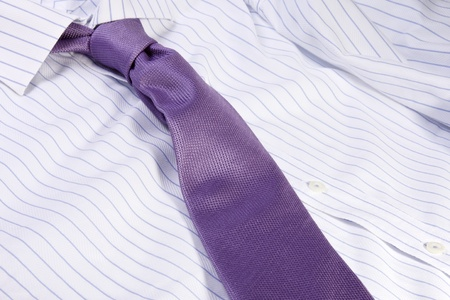Wardrobe, business tie with a white and blue shirt Stock Photo - 12112685