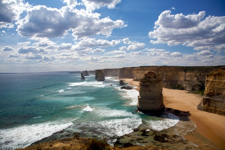 Summer scene of Twelve Apostles Stock Photo