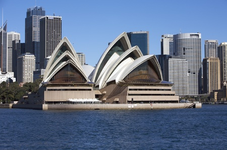 Sydney Opera House in Australia With the City Center in the Background