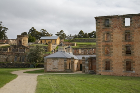 Port Arthur Ancient Historic Building for the Prisoners in Tasmania, Australia Stock Photo - 13847257