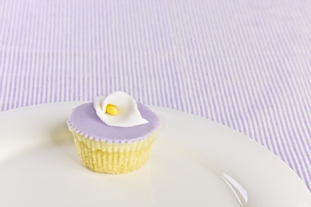 Cupcake on a white plate Stock Photo - 13866044