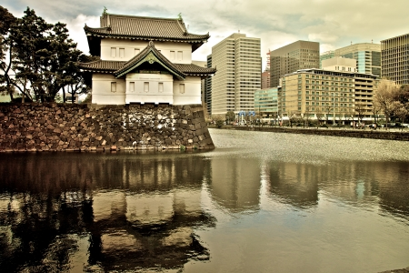 winter palace: Imperial Palace in Tokyo