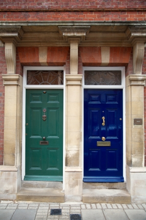 Two closed doors in London, England Stock Photo - 13910132