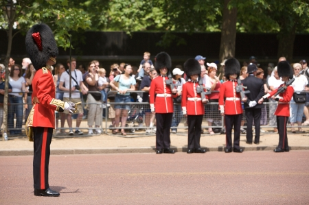 changing colors: Trooping of the Color, London, 2006. Editorial