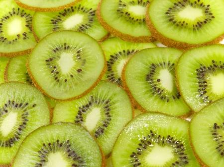 kiwi fruta: Delicioso el kiwi cortado en rodajas de frutas Foto de archivo