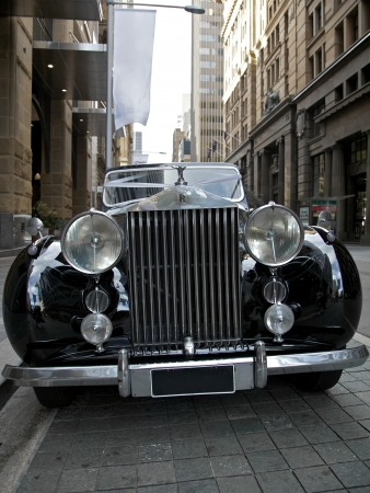 craftsmanship: Classic rolls royce with the famous flying lady mascot Editorial