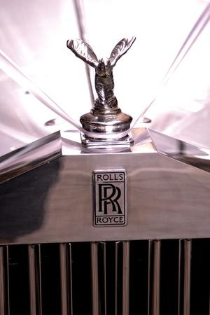 car grill: Classic Rolls Royce, Wedding