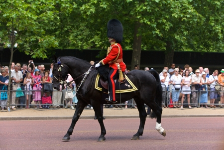 Trooping of the Colors for the Queen's Birthday in London, 2006.