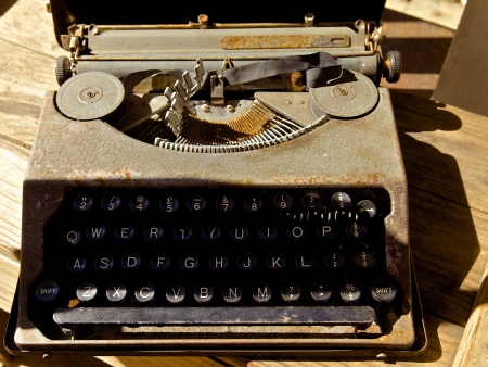 Old antique typewriter photo