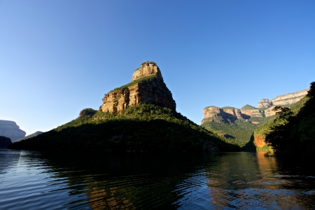Blyde 리버 캐년 Mpummalanga, 남아프리카 공화국의 세 rondovels