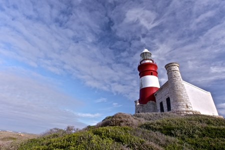 Cape Agulhas Lighthouse is situated at the southern most tip of Africa photo