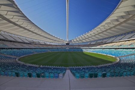 Voetbal stadion in Durban, Zuid-Afrika