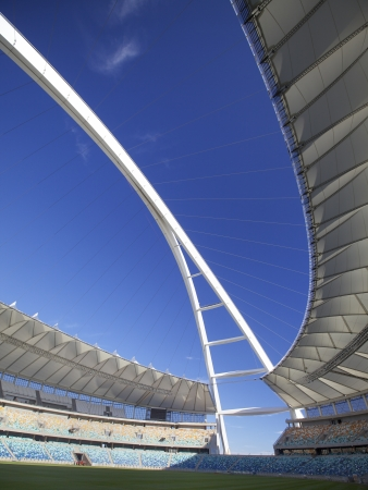 Inside football stadium in Durban, South Africa Editorial