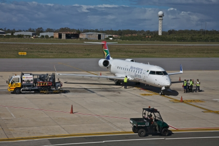 fixed wing aircraft: South African Airways, Commercial Airliner  Editorial