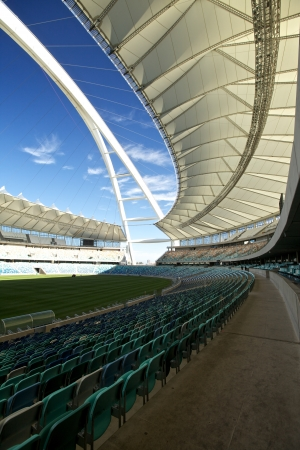 stadium  durban: Soccer, football in Durban in South Africa Editorial