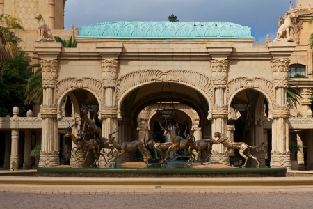 north africa: Lost City or Sun City is a Luxury Hotel with a grand entrance, South Africa. Famous five star Hotel
