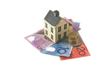 Australische Dolor voor een Huis lening, Breng of Opslaan Stockfoto