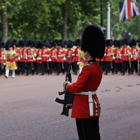 regiment: Trooping of the Colors for the Queens Birthday one of Londons Most Popular Annual Royal Events Photo Taken on June 17th 2006