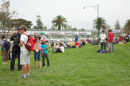 Melbourne 2010 Grand Prix Grounds one of the viewing areas Editorial