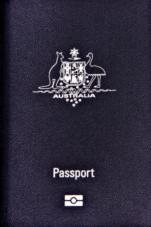 Australian Passport for travel and identification photo