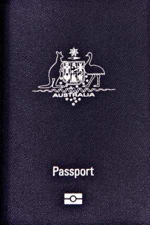 overseas visa: Australian Passport for travel and identification Stock Photo