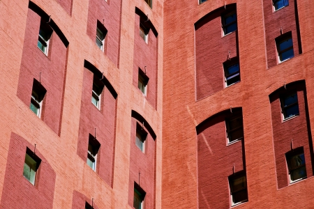 intresting: Brick building Stock Photo