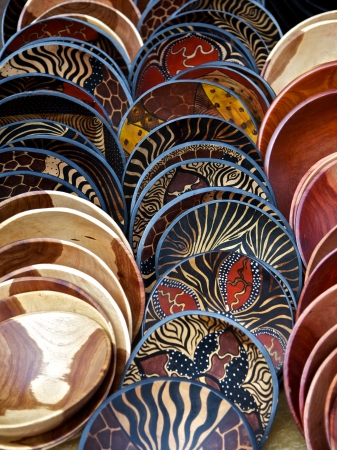 painted wood: Wooden bowls, South Africa